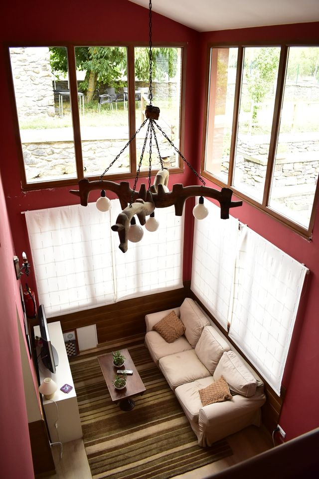 Vista aerea salon social - La campanona